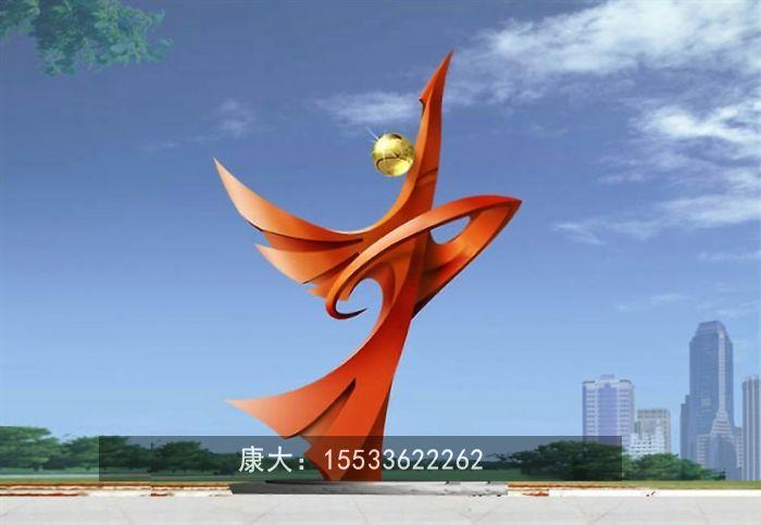 大型不锈钢雕塑定制广场地标镜面金属景观 2