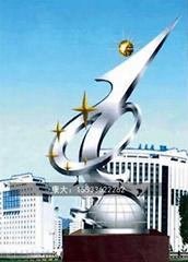 大型不鏽鋼雕塑定製廣場地標異鏡面金屬景觀