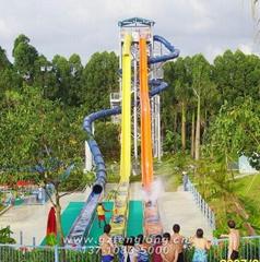 垂直变坡高速滑梯水上乐园玻璃钢滑道