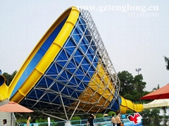 大喇叭滑梯大型水上乐园玻璃钢滑道