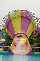 小喇叭滑梯水上乐园玻璃钢滑道