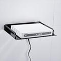和地狼机顶盒架太空铝数字电视托架子挂架支架路由器网络壁架 2