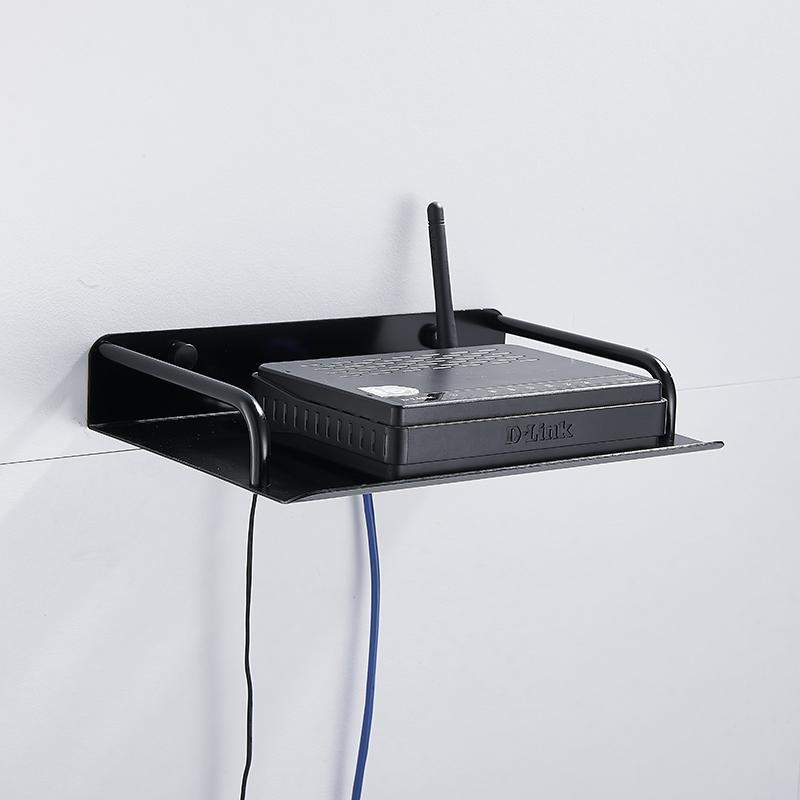 和地狼路由器收纳盒架置物架支架搁壁挂式电视机顶盒架子太空铝 1
