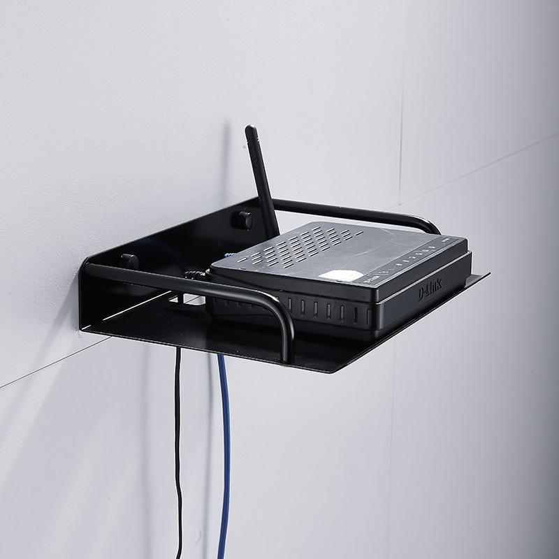 和地狼路由器收纳盒架置物架支架搁壁挂式电视机顶盒架子太空铝 2