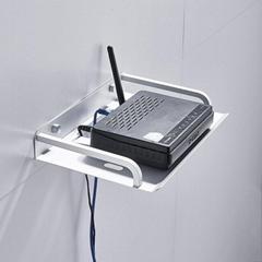 太空鋁電視機頂盒架無線路由器支架置物托架壁挂式賓館