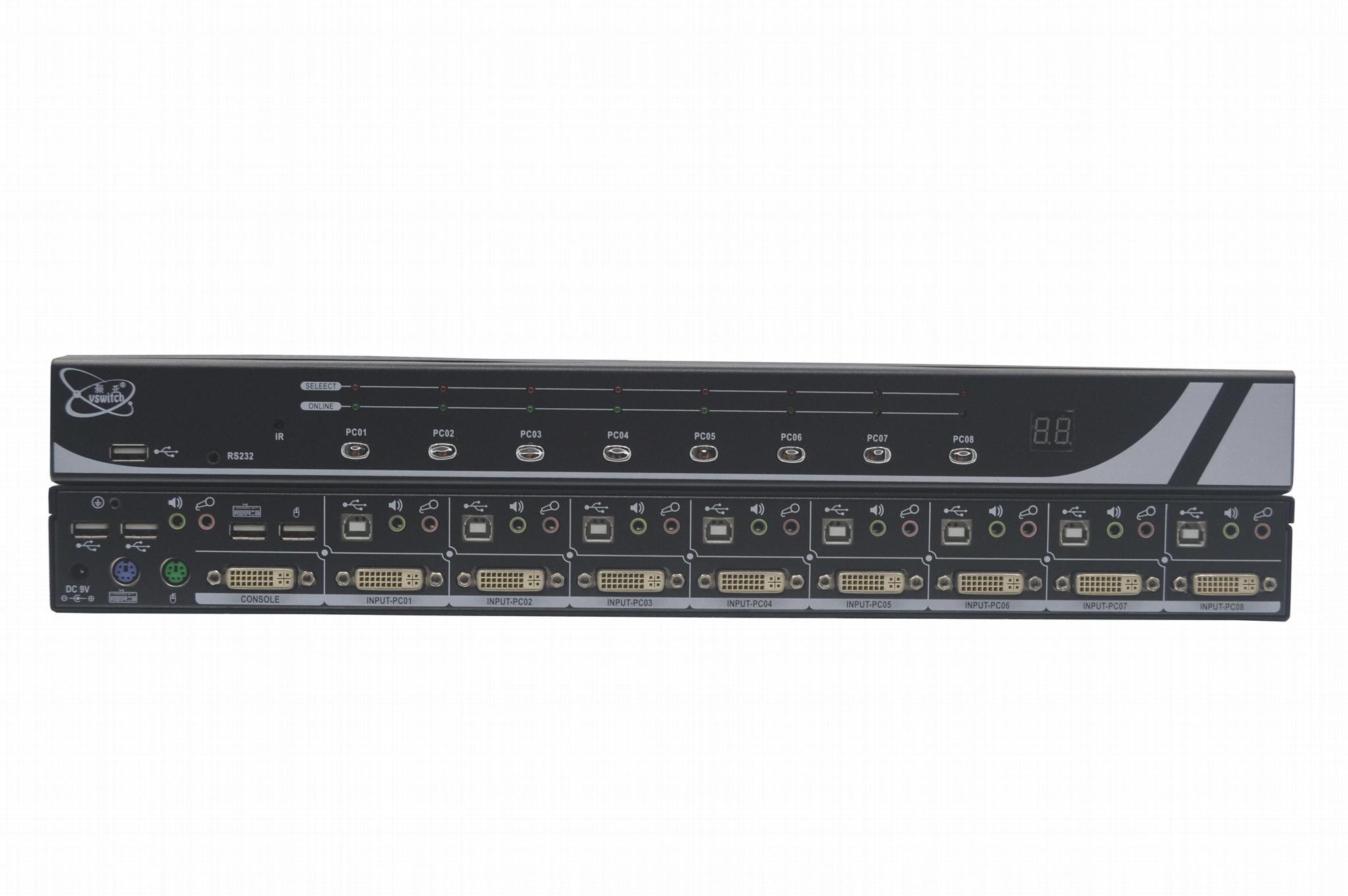 顥亞8進1出8口DVI機架式USB KVM切換器 4