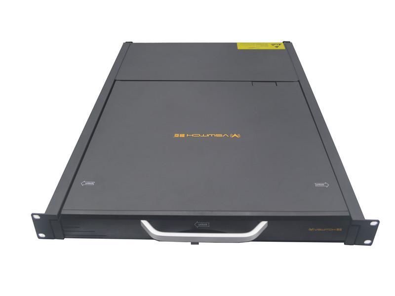 顥亞19寸機架式16端口折疊抽拉式液晶LCD KVM控制平台 1