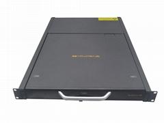 顥亞19寸機架式16端口折疊抽拉式液晶LCD KVM控制平台