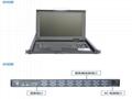 顥亞19寸機架式16端口折疊抽拉式液晶LCD KVM控制平台 2