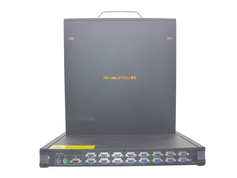 顥亞19寸機架式16端口折疊抽拉式液晶LCD KVM控制平台 4