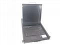 顥亞19寸機架式16端口折疊抽拉式液晶LCD KVM控制平台 5