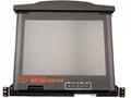 顥亞19寸1口雙滑軌LCD KVM液晶折疊套件 2