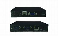 顥亞100米USB KVM延長器支持觸摸屏顯示器無線鍵盤鼠標音頻麥克風