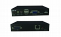 顥亞100米USB KVM延長器支持觸摸屏顯示器無線鍵盤鼠標音頻麥克風 3