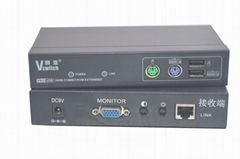 顥亞300米PS/2+USB混接KVM延長器支持無線鍵盤鼠標