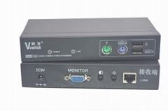 颢亚300米PS/2+USB混接KVM延长器支持无线键盘鼠标