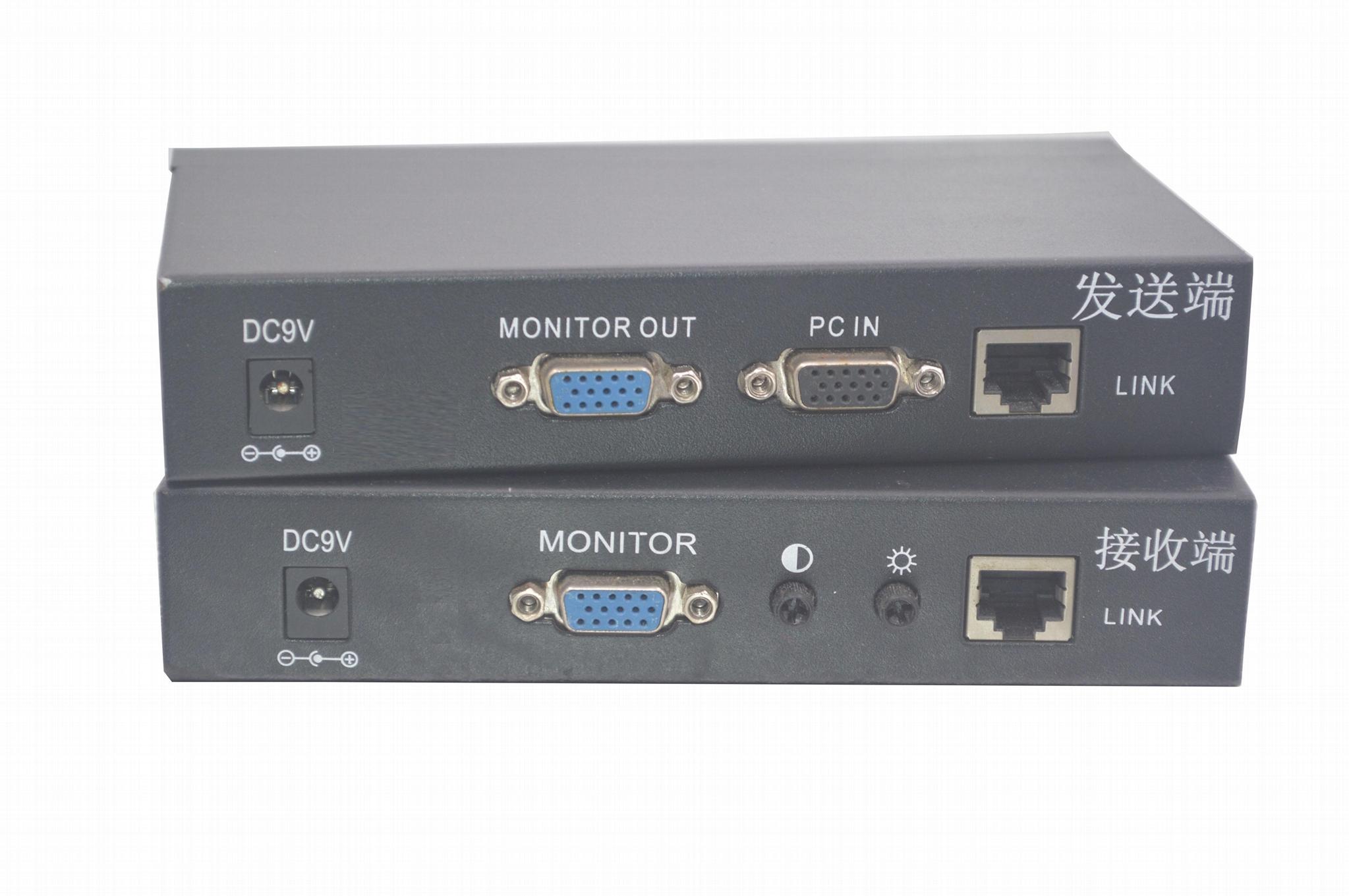 颢亚300米PS/2+USB混接KVM延长器支持无线键盘鼠标 2