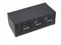 顥亞2進1出2口桌面式4K HDMI USB2.0 KVM切換器  4