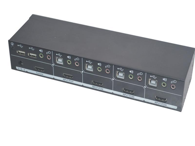 顥亞4進1出4口機架式4K HDMI USB2.0 KVM切換器 4