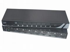 颢亚8进1出8口USB机架式4K HDMI KVM切换器