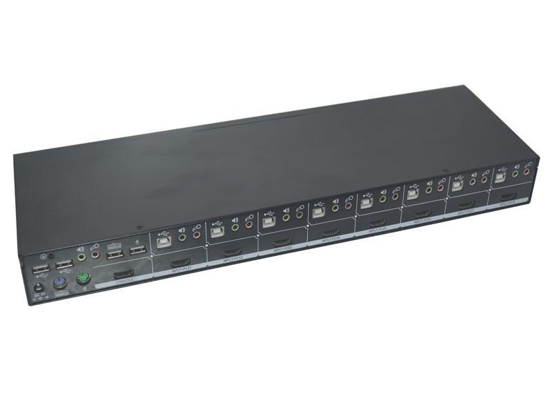 顥亞8進1出8口USB機架式4K HDMI KVM切換器 2