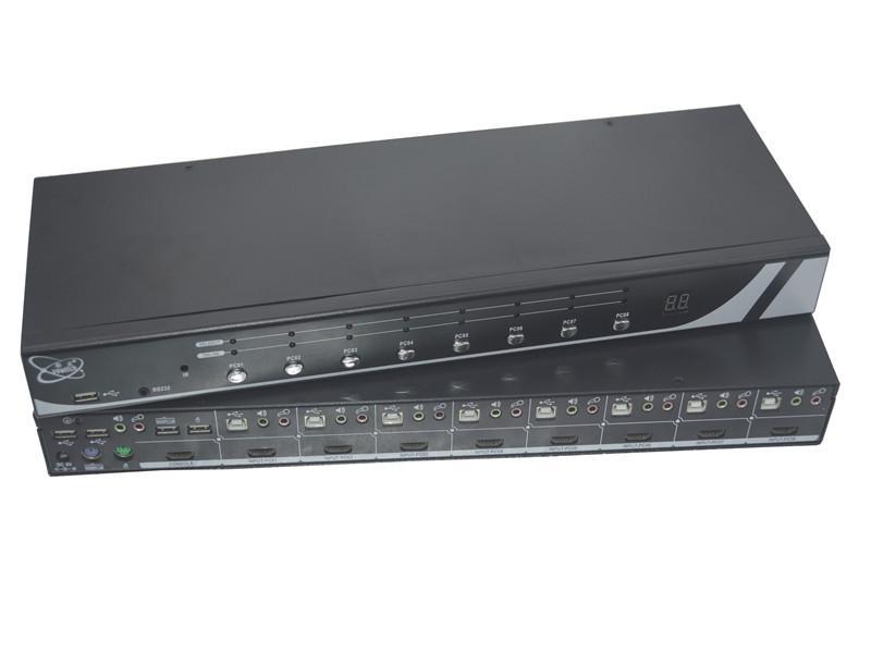 顥亞8進1出8口USB機架式4K HDMI KVM切換器 3