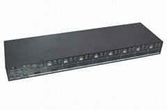 颢亚16进1出16口4K HDMI USB2.0机架式KVM切换器
