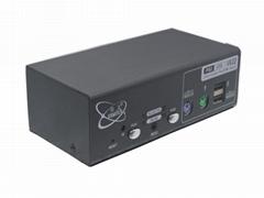 颢亚2进1出USB+PS/2双介面2口混接KVM切换器