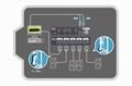 顥亞機架式4進1出USB+PS/2雙介面4口混接KVM切換器  3