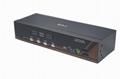 顥亞機架式4進1出USB+PS/2雙介面4口混接KVM切換器  4