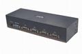 顥亞機架式4進1出USB+PS/2雙介面4口混接KVM切換器  5