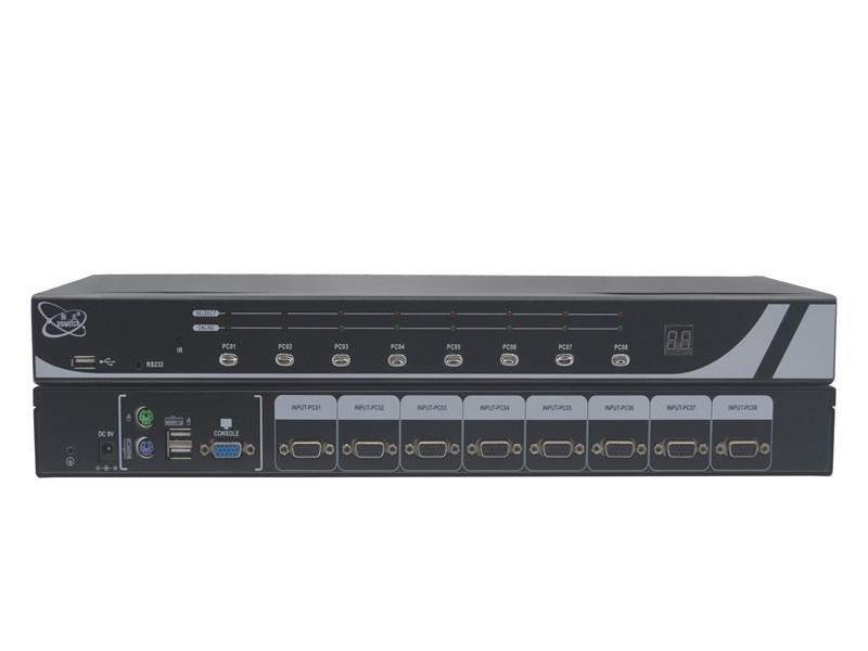 顥亞8進1出機架式USB+PS/2雙介面混接KVM切換器 3