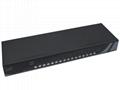 顥亞16進1出USB+PS/2機架式雙介面混接KVM切換器 2
