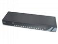 顥亞16進1出USB+PS/2機架式雙介面混接KVM切換器 4