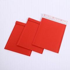 Colored metallic bubble wrap envelopes