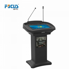 Audio Lectern Digital Podium with Touch Screen Wooden Church Pulpit