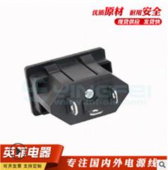 嵌入式巴西機櫃插座AC電源插座多功能電器插座巴西焊接式插座