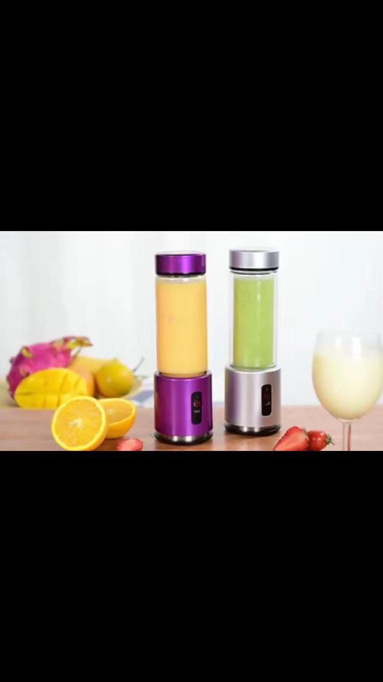 350ml 100W 4000mAh USB charging glass juicer cup mini blende 2