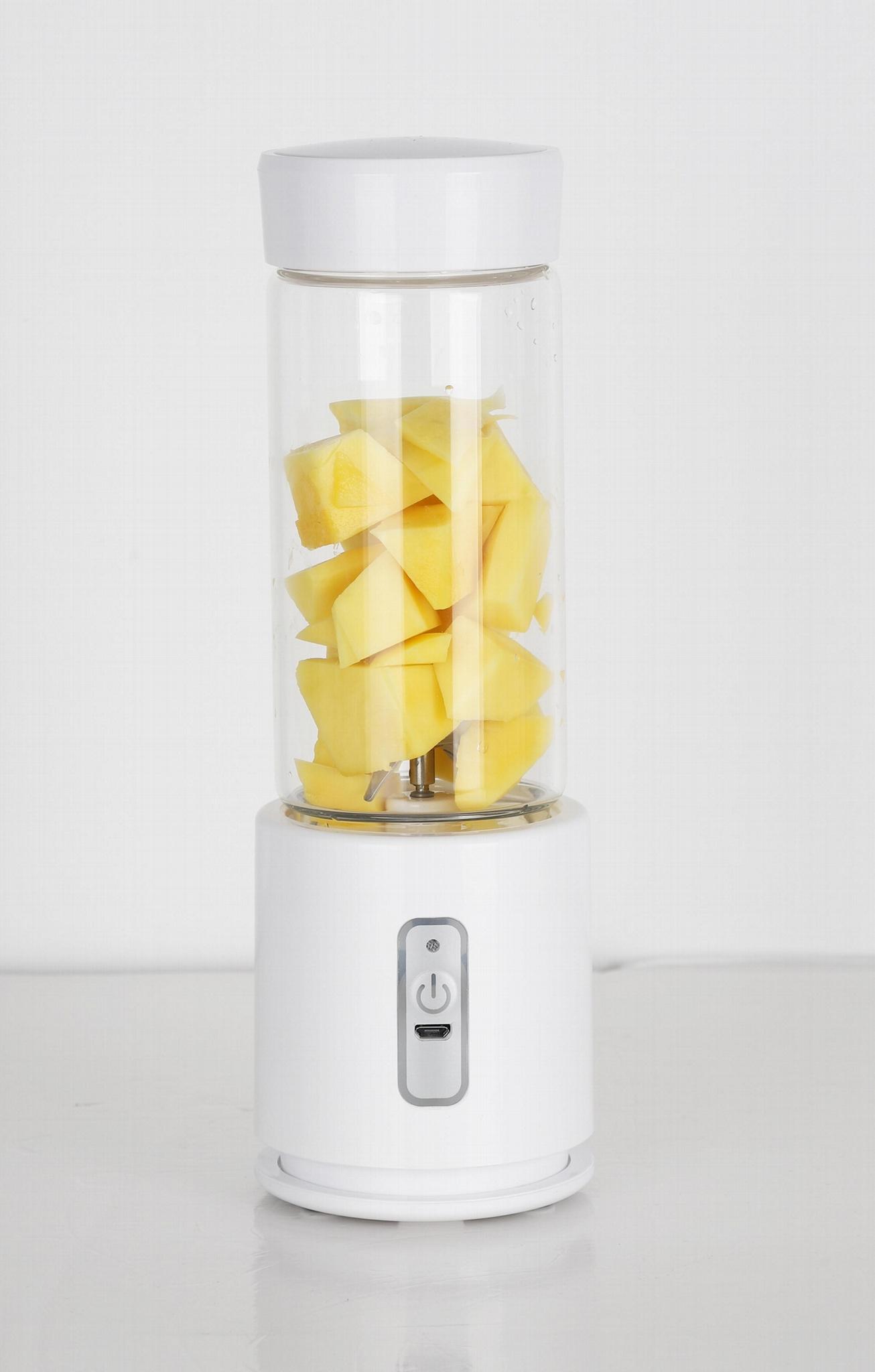 350ml 100W 4000mAh USB charging glass juicer cup mini blende 3