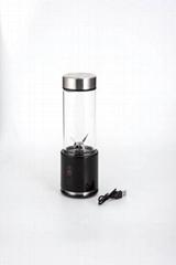 350ml 100W 不锈钢4000毫安USB榨汁杯摇摇杯