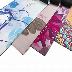 Suede and Rubber Yoga Mat-kmr03