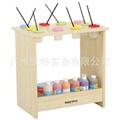 幼儿園櫃子 儿童美朮水彩櫃 移動美朮架 晾畫架 1