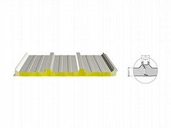1000 Secret Nail Insulated Roof Panel  PU Sandwich Panel wholesale  Sandwich Pan