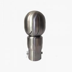 Tank clean rotary spray ball