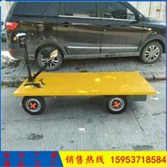 手推电动平板车 工地载重电动平板车 工地小型平板车