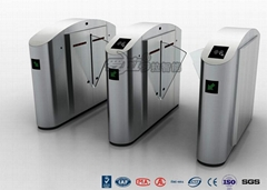 Acrylic Flap Waist Height Turnstile Security Systems Optical Sensor