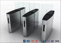 Building Access Control Turnstile Flap Barrier Automatic With Polishing Surface