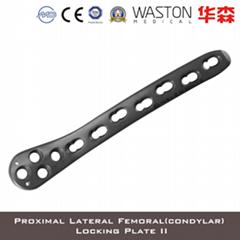 Proximal Lateral Femoral (Condylar) Locking Plate III Orthopedic Pure Titanium