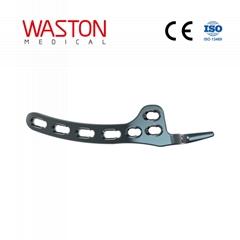 锁骨钩锁定接骨板(左/右) 纯钛 骨科 植入物 插件板 创伤