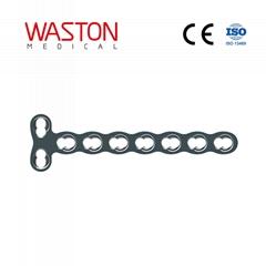 2.4 T-shaped Locking Plate(2 Head Holes) Orthopedic Implants Miniature Bone